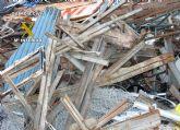 La Guardia Civil detiene a dos personas por el robo de más de una tonelada de material metálico