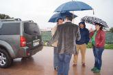 El ayuntamiento y la CHS visitan las zonas donde desembocan las principales ramblas de Totana, en las que se acometerían los embalses para la reutilización de pluviales
