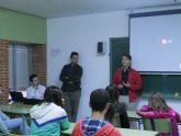 Seis empresas asociadas a AJE Guadalent�nhan expuesto sus experiencias a m�s de 150 alumnos de los IES de la localidad