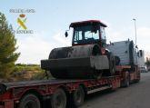 La Guardia Civil desmantela un nuevo grupo delictivo dedicado a la sustracción de maquinaria pesada