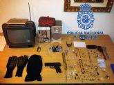 Desarticulado un grupo organizado dedicado al robo en viviendas en pedanías de Murcia
