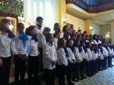 El Coro de Voces Blancas de San Javier se estrenó fuera con una visita a San Diego, en Cartagena