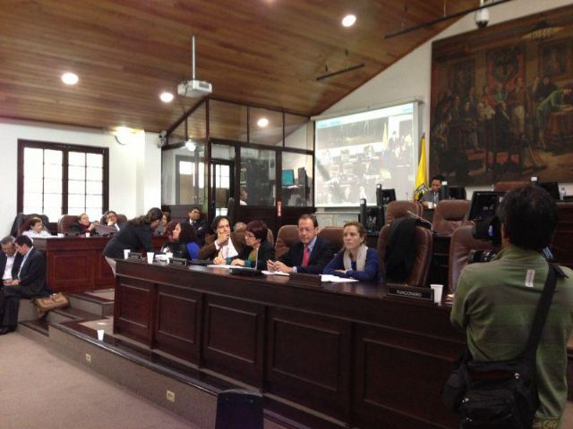 El Alcalde concluye su estancia en Bogotá con una reunión con el pleno del Concejo de la ciudad - 2, Foto 2