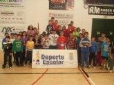 Un total de 70 escolares de los centros de enseñanza de Totana participaron en la fase local de Tenis de Mesa de Deporte Escolar