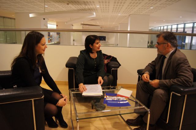 La alcaldesa de Totana se traslada a Bruselas para diseñar el plan de gestión del Yacimiento Argárico de La Bastida - 2, Foto 2
