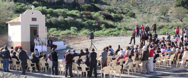 Bendecida la Capilla en Honor a la Virgen del Carmen del Cabezo de la Jara que fue destruida por la riada - 1, Foto 1