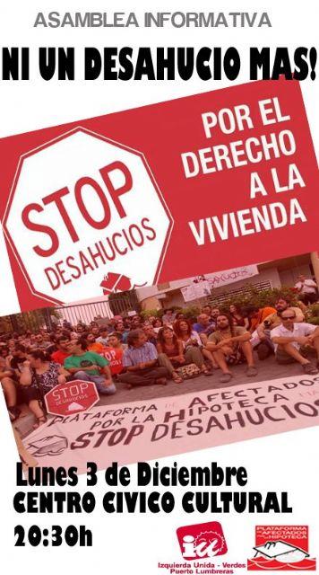 Asamblea Informativa de la PAH contra los desahucios en Puerto Lumbreras - 1, Foto 1