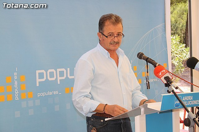 """PP president of Totana reports that """"the Government of Spain will go up by 2% despite the pension crisis"""", Foto 1"""