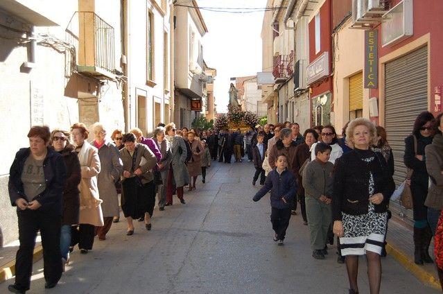 Numerosos feligreses de Alguazas veneran a la Purísima Concepción en su día grande - 1, Foto 1