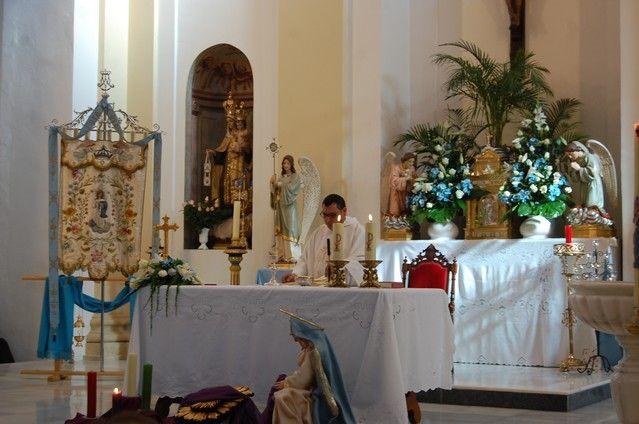 Numerosos feligreses de Alguazas veneran a la Purísima Concepción en su día grande - 4, Foto 4