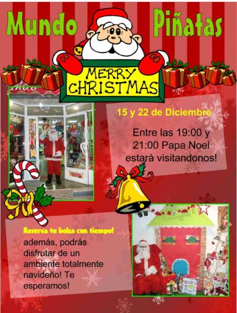 Santa Claus will visit World Piñatas to collect letters from the little ones of the house, Foto 2