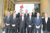 El presidente de la UCAM acompaña a Valcárcel y al Comisario europeo de política regional en el Foro Nueva Murcia