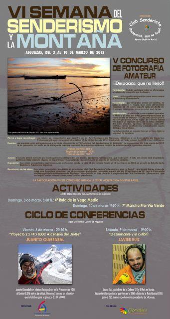 El Club Senderista ¡¡Despacico, que no llego!! de Alguazas convoca su V Concurso Nacional de Fotografía Amateur - 3, Foto 3