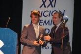 Ignacio Mart�nez, gerente de�Climasolwolrd.com, recibe el reconocimiento de los Premios Radio Espuña Alhama 2012