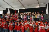 Más de 200 niños de siete colegios pinatarenses participan en el I Encuentro de Villancicos escolares
