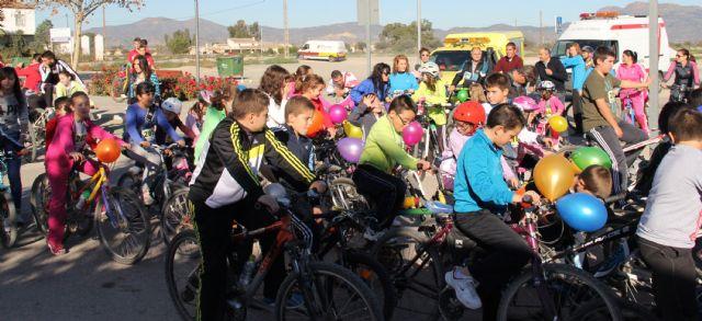 Más de 100 familias participaron en el Ciclopaseo en La Estación- Esparragal de Puerto Lumbreras - 1, Foto 1