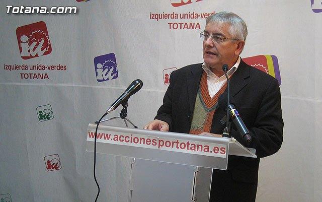 """Juan Valero: """"Para IU-Verdes, el 2012, es un año perdido para que Totana supere la crisis"""" - 1, Foto 1"""