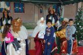 Los niños de Alguazas reciben con júbilo e ilusión la visita de los Reyes Magos a la localidad