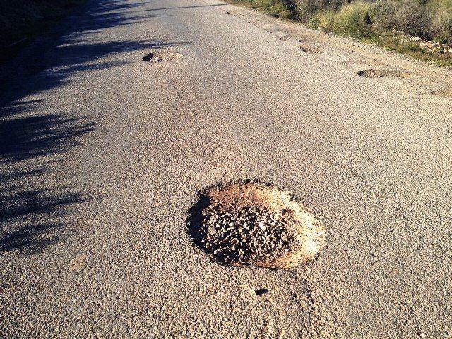 IU denuncia el estado calamitoso y peligroso de los caminos rurales en Totana, Foto 2