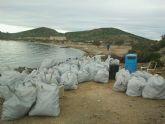 Ayuntamiento y Costas limpian las isla Perdiguera
