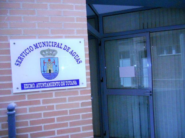 Habilitan el tel�fono directo 968/ 421785 en el Servicio Municipal de Aguas para la atenci�n a los usuarios, Foto 1
