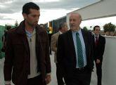 Vicente del Bosque visitó Pinatar Arena