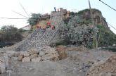 En marcha las obras de construcción de escolleras para la evacuación de pluviales en el entorno del Castillo de Nogalte