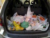 El Club Baloncesto Totana entrega a Cáritas la comida recogida en un 3x3 solidario disputado en Navidad