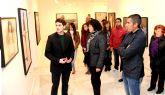 Inaugurada la exposición de pintura 'Miradas Figurativas' del joven artista lumbrerense Javier Parra