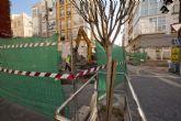 Las obras cortan el tráfico en la calle Gisbert