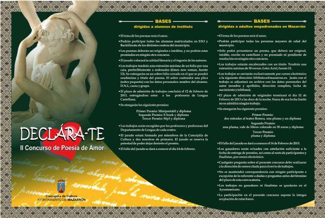 El concurso de poesía Declara-Te se amplía para los adultos - 1, Foto 1