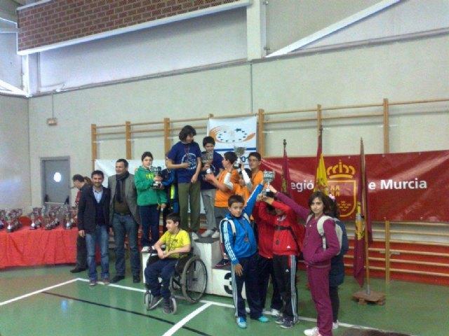 El equipo cadete masculino del IES Juan de la Cierva, subcampe�n en la final regional de tenis de mesa de Deporte Escolar, celebrada en Lorca, Foto 1