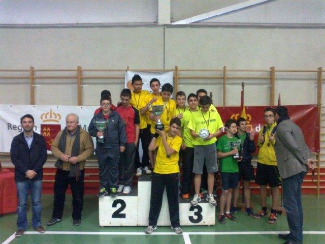 El equipo cadete masculino del IES Juan de la Cierva, subcampe�n en la final regional de tenis de mesa de Deporte Escolar, celebrada en Lorca, Foto 2