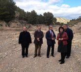 El Ayuntamiento de Totana, los regantes y la CHS estudian la construcción de una presa en la rambla de Lébor para hacer frente a futuras inundaciones