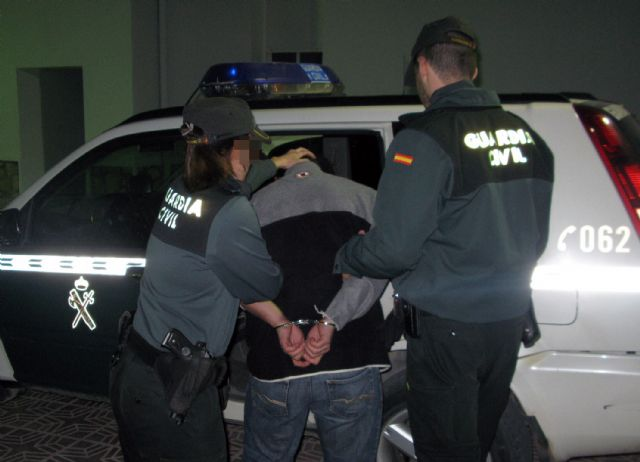The Civil Guard detained the alleged perpetrator of a wave of burglaries Totana field, Foto 2