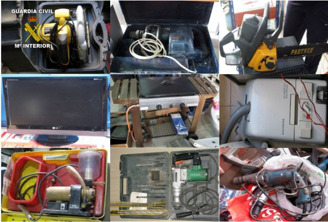 The Civil Guard detained the alleged perpetrator of a wave of burglaries Totana field, Foto 3