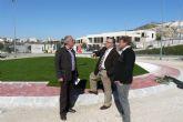 Las obras de construcción de la nueva rotonda de acceso al centro de ASTRADE y al parque de ocio Los Juncos de Molina de Segura llegan a su fase final