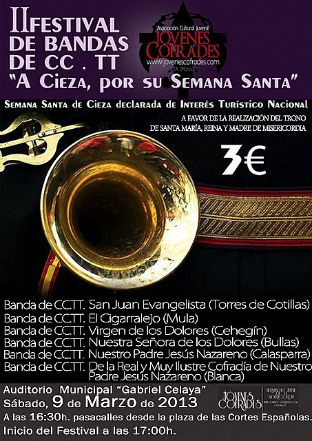 Presentan el II Festival de Bandas de Cornetas y Tambores A Cieza, por su Semana Santa - 2, Foto 2