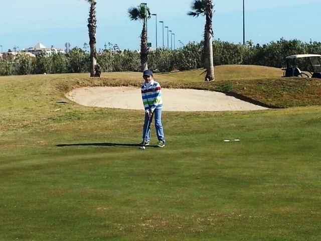 Ángel Pérez campeón benjamín del I mensual de golf de la FGRM - 1, Foto 1