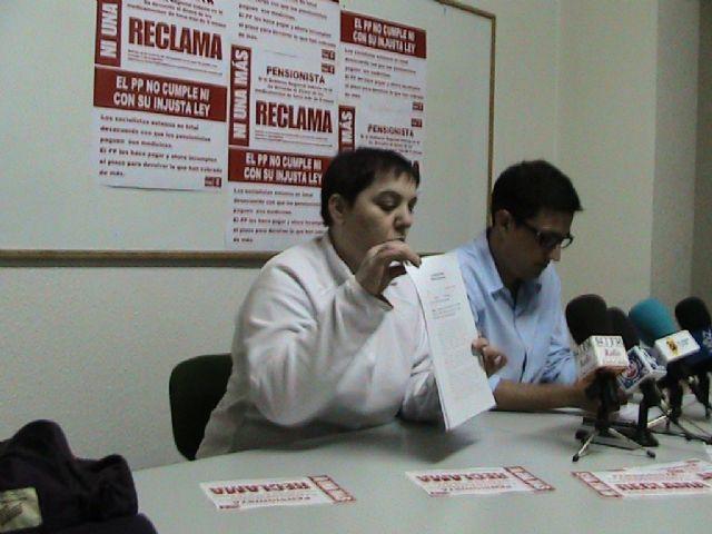 Nota de prensa sobre reclamación copago sanitario. PSOE Mazarrón - 2, Foto 2