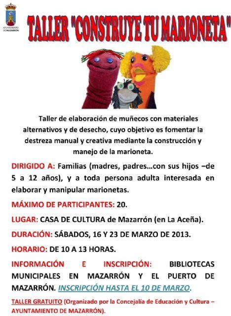 El ayuntamiento te invita a que construyas tu marioneta - 1, Foto 1