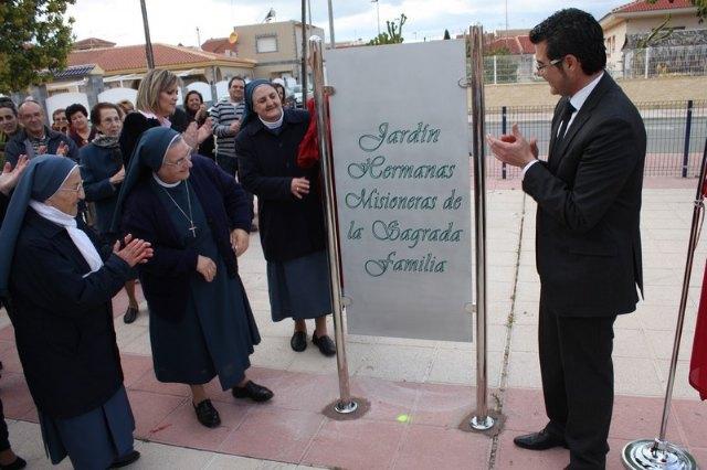 Inaugurado un jardín en Roldán en homenaje a las Hermanas Misioneras de la Sagrada Familia - 1, Foto 1