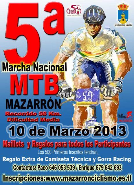 La V marcha MTB de Mazarrón recorrerás las calas de Bolnuevo el domingo 10 de marzo - 1, Foto 1