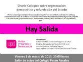 Charla-Coloquio en Molina de Segura sobre 'Regeneración de la Democracia y la Refundación del Estado'
