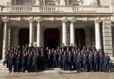 Los alumnos de la Academia General del Aire visitan el Palacio Consistorial