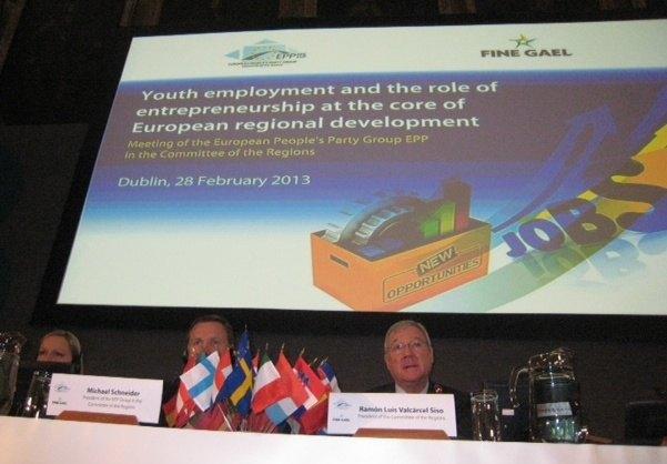 Valcárcel defiende ante la Presidencia irlandesa de la UE la necesidad de que se flexibilice el cumplimiento del déficit público - 2, Foto 2