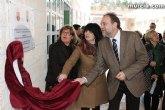 Sotoca inaugura en Totana el nuevo colegio La Cruz, en el que la Comunidad ha invertido más de tres millones de euros