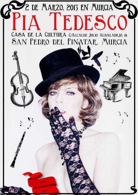 La actriz y cantante Pía Tedesco transforma la Casa de la Cultura en un Cabaret - 1, Foto 1