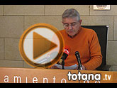 Rueda de prensa IU-verdes Totana, valoración Pleno febrero 2013