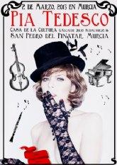 La actriz y cantante Pía Tedesco transforma la Casa de la Cultura en un Cabaret